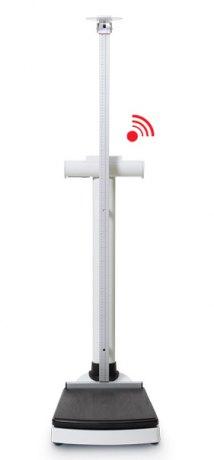 seca704s (150kg/300kg działka 50g/100g) Elektroniczna waga kolumnowa o dużym obciążeniu maksymalnym ze wzrostomierzem i funkcją bezprzewodowej transmisji danych