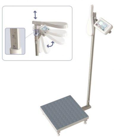 WE200P3 M(X)35X35 200kg-20/100g szalka 35x35cm Waga osobowa ze wzrostomierzem mechanicznym i funkcją BMI (legalizacja w cenie wagi)