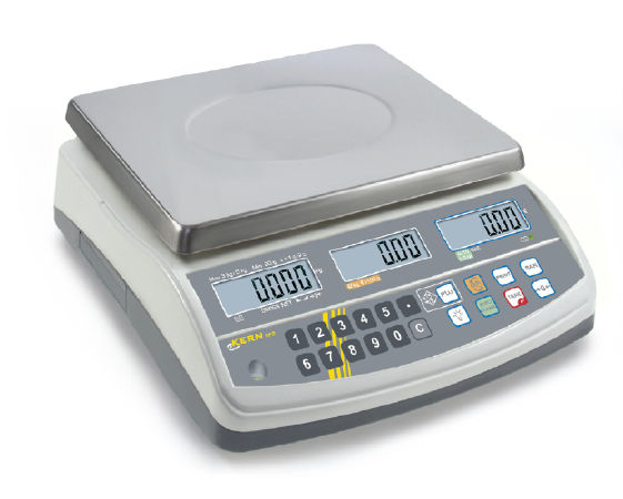 Price computing scale with type approval 0,001 kg: 0,002 kg : 3 kg: 6 kg