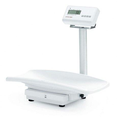Elektroniczna waga medyczna niemowlęca kolumnowa z legalizacją Charder MS21NEO ze zdejmowaną szalką, ze wzrostomierzem mechanicznym HM80M