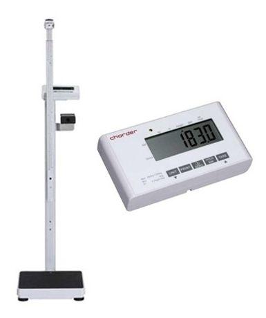 Elektroniczna waga medyczna Charder MS4900 + wzrostomierz teleskopowy elektroniczny - 120-200cm (klasy III) funkcja BMI, legalizacja