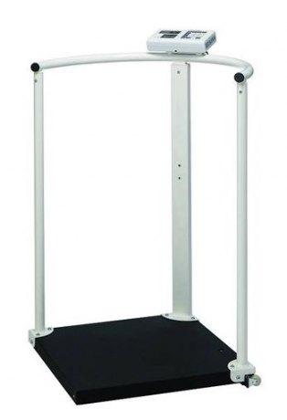 Elektroniczna waga medyczna platformowa z poręczą Charder MS2504 (III) funkcja BMI (opcjonalny wzrostomierz)