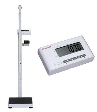 Elektroniczna waga medyczna Charder MS4900 + wzrostomierz teleskopowy (60-200cm) + funkcja BMI + kółka transportowe