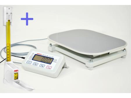 MENSOR WE150P1 (MT) elektroniczna waga osobowa ze wzrostomierzem rozwijanym do 150kg