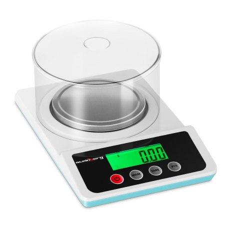 Steinberg SBS-LW-500 - mała waga elektroniczna do 500g z dokładnością 0,01g z osłoną przeciwpodmuchową, szalka śr. 10cm