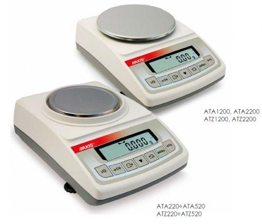AXIS ATZ220 (220g/0,001g), elektroniczna waga laboratoryjna, kalibracja zewnętrzna