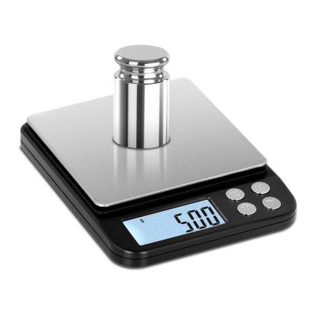 STEINBERG Waga elektroniczna do 500g z dokładnością 0,01g TW500/10B, szalka 10x10cm (baterie w komplecie)